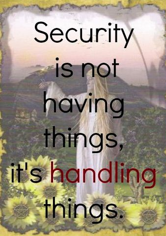 Securing things is the key objective of security