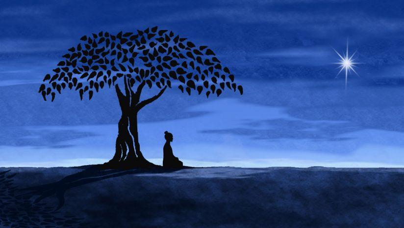 Buddha taking a break under a tree