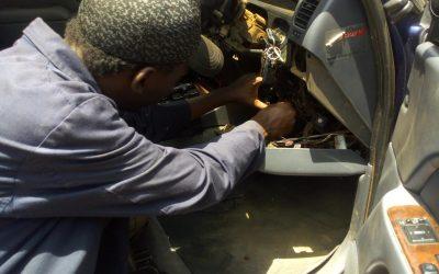 working on auto dashboard